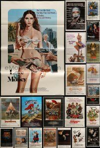 7h004 LOT OF 54 FOLDED ONE-SHEETS '70s-90s great images from a variety of different movies!