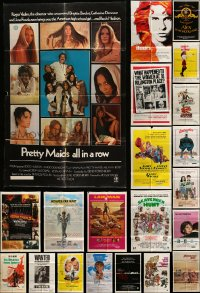 7h010 LOT OF 45 FOLDED ONE-SHEETS '70s great images from a variety of different movies!