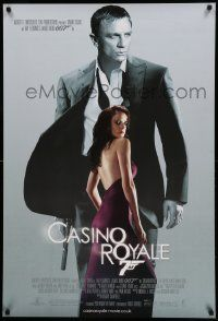 7j115 CASINO ROYALE DS English 1sh '06 Daniel Craig as James Bond & sexy Eva Green as Vesper Lynd!