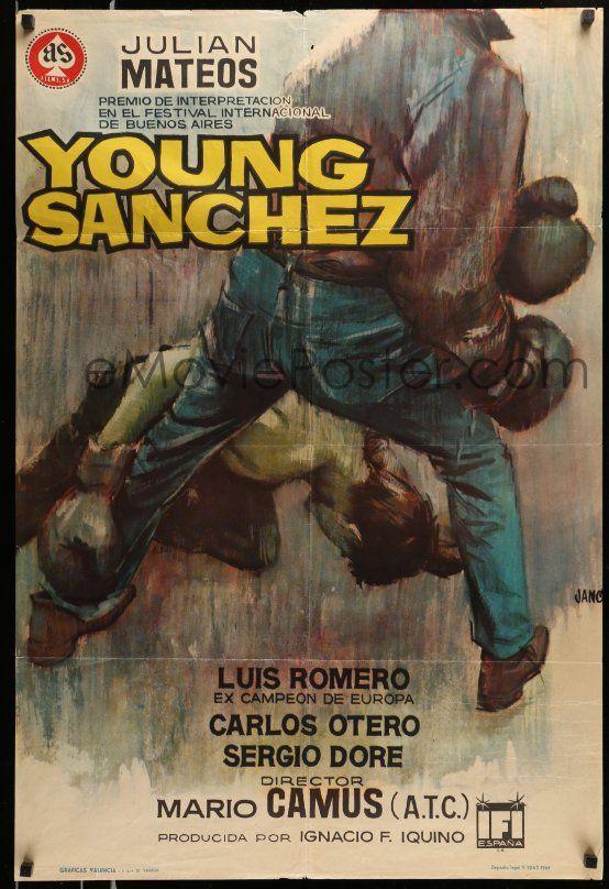 eMoviePoster com: 7j051 YOUNG SANCHEZ Spanish '64 Mario Camus, cool