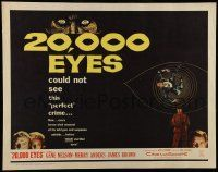7k004 20,000 EYES 1/2sh '61 Gene Nelson, Merry Anders could not see the perfect crime!