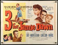 7k005 3 FOR JAMIE DAWN style B 1/2sh '56 Laraine Day, Ricardo Montalban, Richard Carlson!