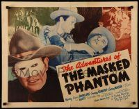 7k010 ADVENTURES OF THE MASKED PHANTOM 1/2sh '39 cool images of cowboy Monte Rawlins in title role