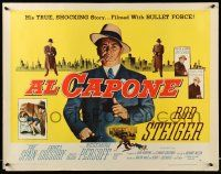 7k011 AL CAPONE style A 1/2sh '59 cool comparison of Rod Steiger to the most notorious gangster!