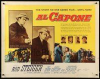 7k012 AL CAPONE style B 1/2sh '59 cool comparison of Rod Steiger to the most notorious gangster!