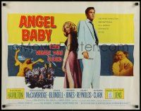 7k014 ANGEL BABY 1/2sh '61 full-length George Hamilton standing with sexiest Salome Jens!
