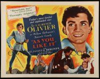 7k020 AS YOU LIKE IT reviews 1/2sh R49 Sir Laurence Olivier in Shakespeare's romantic comedy!