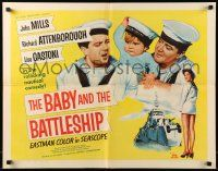 7k022 BABY & THE BATTLESHIP 1/2sh '57 English sailors John Mills & Richard Attenborough!