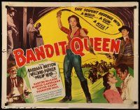 7k023 BANDIT QUEEN 1/2sh '50 sexy Barbara Britton with whip, lashing fury, ruthless revenge!