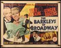 7k025 BARKLEYS OF BROADWAY style B 1/2sh '49 art of Fred Astaire & Ginger Rogers dancing in New York