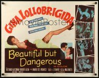 7k027 BEAUTIFUL BUT DANGEROUS 1/2sh '57 full-length art of sexy Gina Lollobrigida showing her leg!