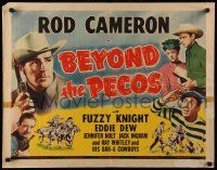 7k029 BEYOND THE PECOS 1/2sh '45 Rod Cameron, Fuzzy Knight, Eddie Dew, Jennifer Holt!
