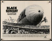 7k036 BLACK SUNDAY int'l 1/2sh '77 Goodyear Blimp zeppelin disaster at the Super Bowl!