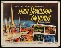 7k095 FIRST SPACESHIP ON VENUS 1/2sh '62 you are there on man's most exciting incredible journey!