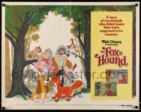 7k100 FOX & THE HOUND 1/2sh '81 two friends who didn't know they were supposed to be enemies!