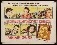 7k001 FROM HERE TO ETERNITY 1/2sh '53 Burt Lancaster, Kerr, Sinatra, Donna Reed, Clift