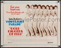 7k108 GOLD DIGGERS OF 1935/FOOTLIGHT PARADE 1/2sh '70 Busby Berkeley, cool image of sexy dancers!