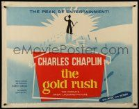 7k109 GOLD RUSH 1/2sh R59 wonderful art of Charlie Chaplin walking into the sunset, classic!
