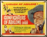 7k112 GUNFIGHTERS OF ABILENE 1/2sh '59 super close up of cowboy Buster Crabbe with gun!