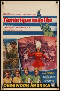 7m004 AMERICA AS SEEN BY A FRENCHMAN Belgian '60 Francois Reichenbach's L'Amerique insolite