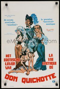 7m005 AMOROUS ADVENTURES OF DON QUIXOTE & SANCHO PANZA Belgian '76 sexy cartoon art by L. Salk!