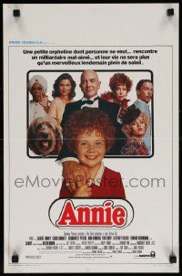 7m008 ANNIE Belgian '82 image of cute Aileen Quinn and top cast, from Harold Gray's comic strip!