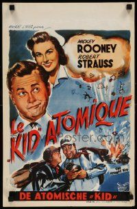 7m012 ATOMIC KID Belgian '55 wacky art of nuclear Mickey Rooney, Davis and Strauss by Wik!