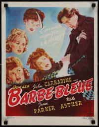 7m017 BARBE-BLEUE Belgian '51 Cecile Aubry, Pierre Brasseur, completely different artwork!