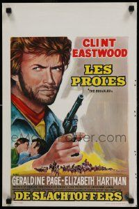 7m021 BEGUILED Belgian '71 completely different art of Clint Eastwood, Don Siegel directed!