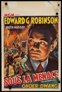 7m033 BLACKMAIL Belgian R40s cool different artwork of escaped convict Edward G. Robinson!