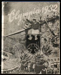 7s005 OLYMPIA 1932 German hardcover book '32 wonderful fully-illustrated Summer Olympics history!