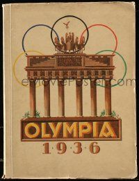 7s007 OLYMPIA 1936 German softcover book '36 with art & lots of tipped in photos, ultra rare!