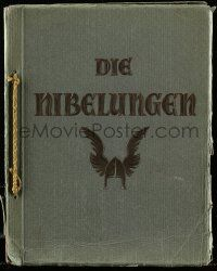 7s010 DIE NIBELUNGEN German 10x13 cigarette card album '24 contains 75 cards on 15 pages!