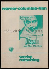 7s031 DRACULA A.D. 1972 German pressbook '72 Hammer, great images of vampire Christopher Lee!