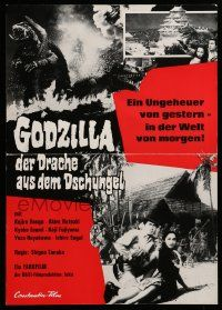 7s035 GAMERA VS. BARUGON German pressbook '67 unfolds to cool 12x17 poster!