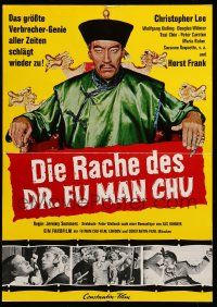 7s041 VENGEANCE OF FU MANCHU German pressbook '68 unfolds to cool 12x17 color poster!