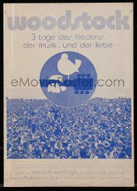 7s042 WOODSTOCK German pressbook '70 documentary of the most legendary rock 'n' roll concert!