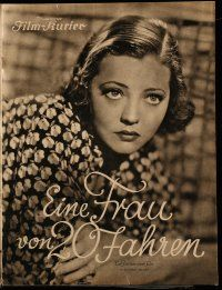7s044 ACCENT ON YOUTH German program '36 different images of Sylvia Sidney & Herbert Marshall!