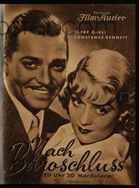 7s045 AFTER OFFICE HOURS German program '35 different images of Clark Gable & Constance Bennett!