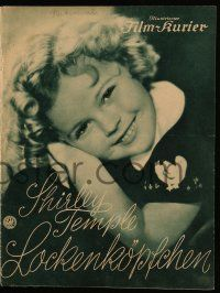 7s059 CURLY TOP German program '35 great different images of cute Shirley Temple & John Boles!