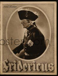 7s070 FRIDERICUS German program '37 Otto Gebuhr as King Frederick II, King of Prussia!