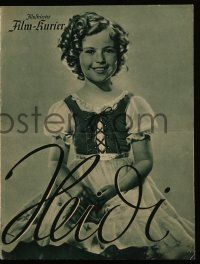7s075 HEIDI German program '38 different images of cute Shirley Temple & Jean Hersholt!