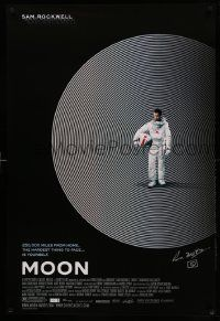 7w039 MOON signed 1sh '09 by director Duncan Jones, great image of lonely Sam Rockwell!