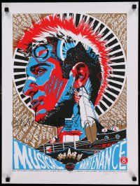 7w005 ART OF MUSICAL MAINTENANCE signed 18x24 music poster '11 by artist Tyler Stout, 43/200!