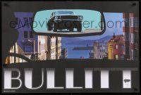 7w009 BULLITT signed 24x36 special '14 by Henry Villegas, Zoetrope, 289/300 w/original hand-drawing