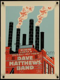 7w011 DAVE MATTHEWS BAND signed 18x24 music poster '09 by an artist from Methane Studios, 380/450!