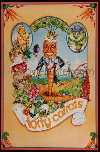 7w069 FORTY CARROTS 24x37 advertising poster '80 Penelope art for Bloomingdale's restaurant!