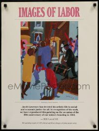 7w054 IMAGES OF LABOR 18x24 art print '94 artwork by Jacob Lawrence!