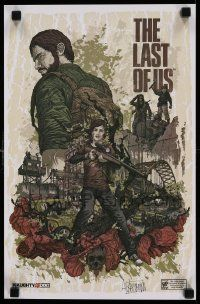 7w046 LAST OF US signed 11x17 special '13 by artist Alexander Iaccarino, apocalyptic action!