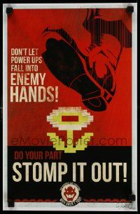 7w021 MARIO WWII PROPAGANDA signed 11x17 special '10s by Fernando Reza, stomp it out, 60/100!